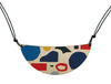 Abstract shapes pattern necklace