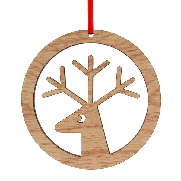 Reindeer in a circle decoration