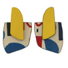 Yellow abstract pattern finger statement earrings