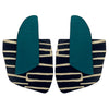 Teal City pattern finger statement earrings