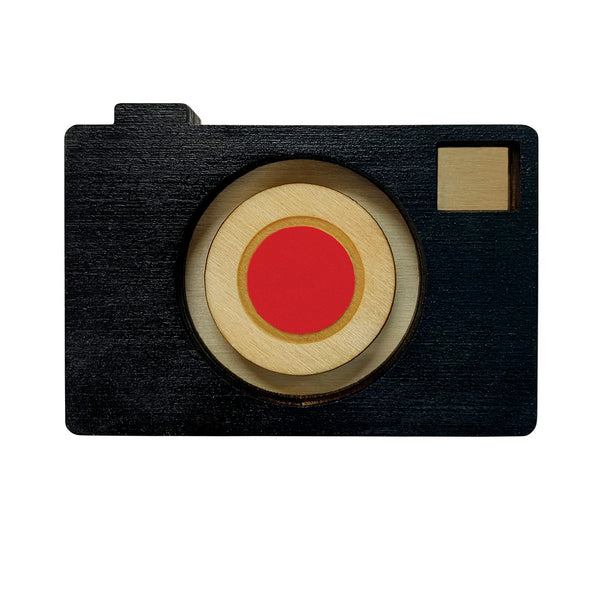 Retro Camera laser cut Brooch