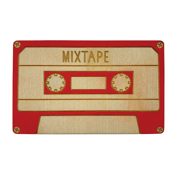 Red mixtape Brooch
