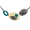 City pattern necklace in teal