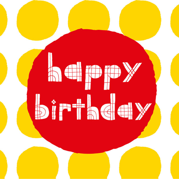 Yellow spots Happy Birthday card