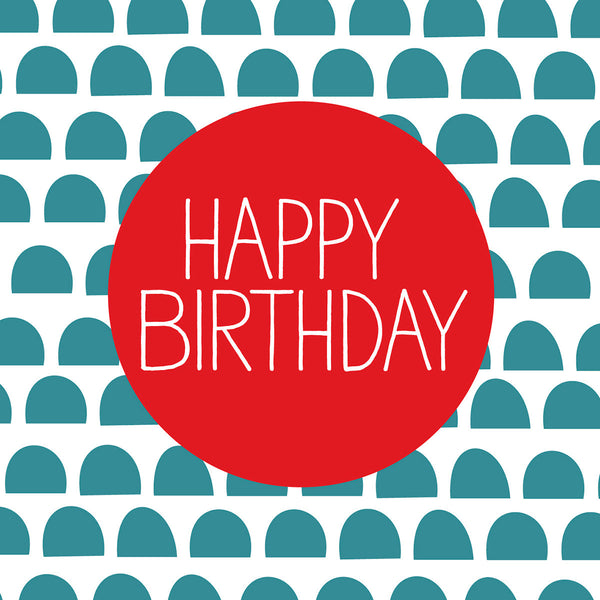 Nordic design Happy Birthday card