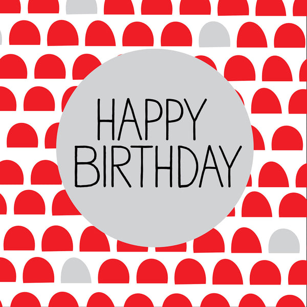 Happy Birthday with silver nordic design card