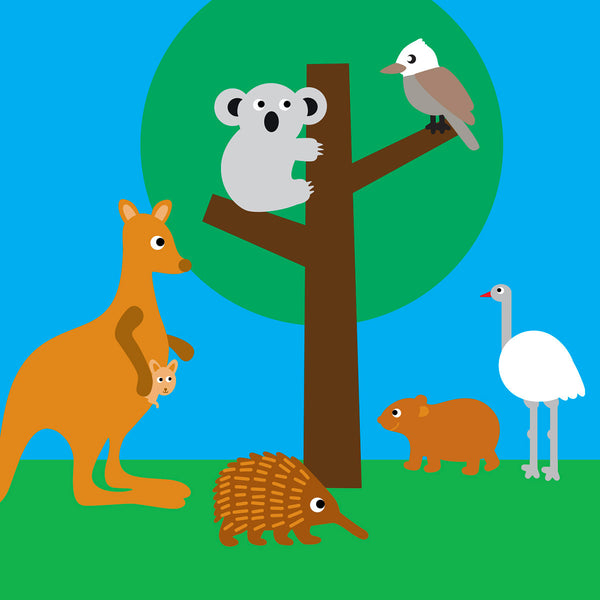 Australian bush friends card