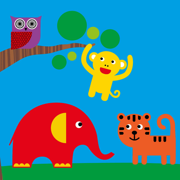Zoo animals card