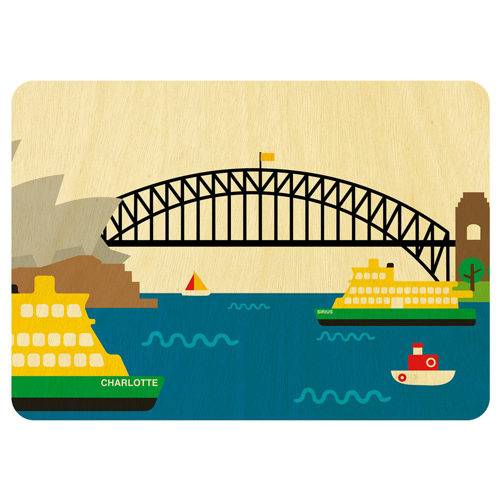 Hello Sydney wooden card
