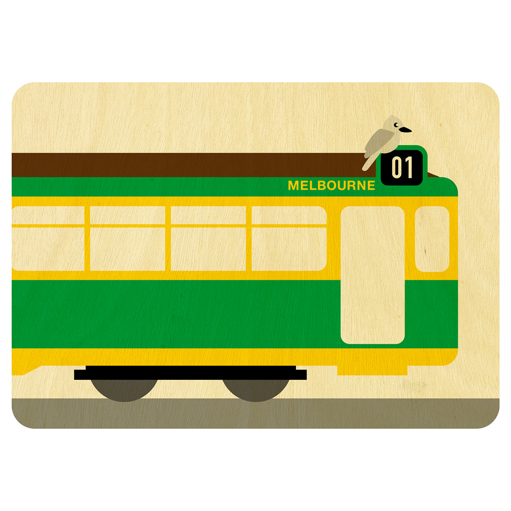 Hello Melbourne wooden card