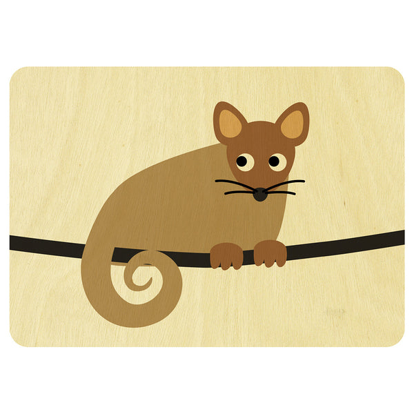 Ringtail Possum wooden card