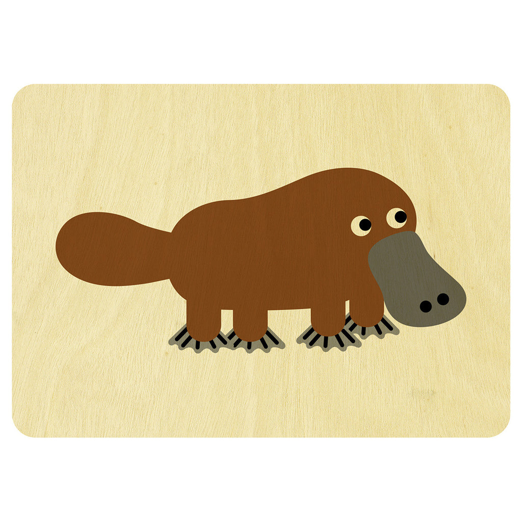 Platypus wooden card