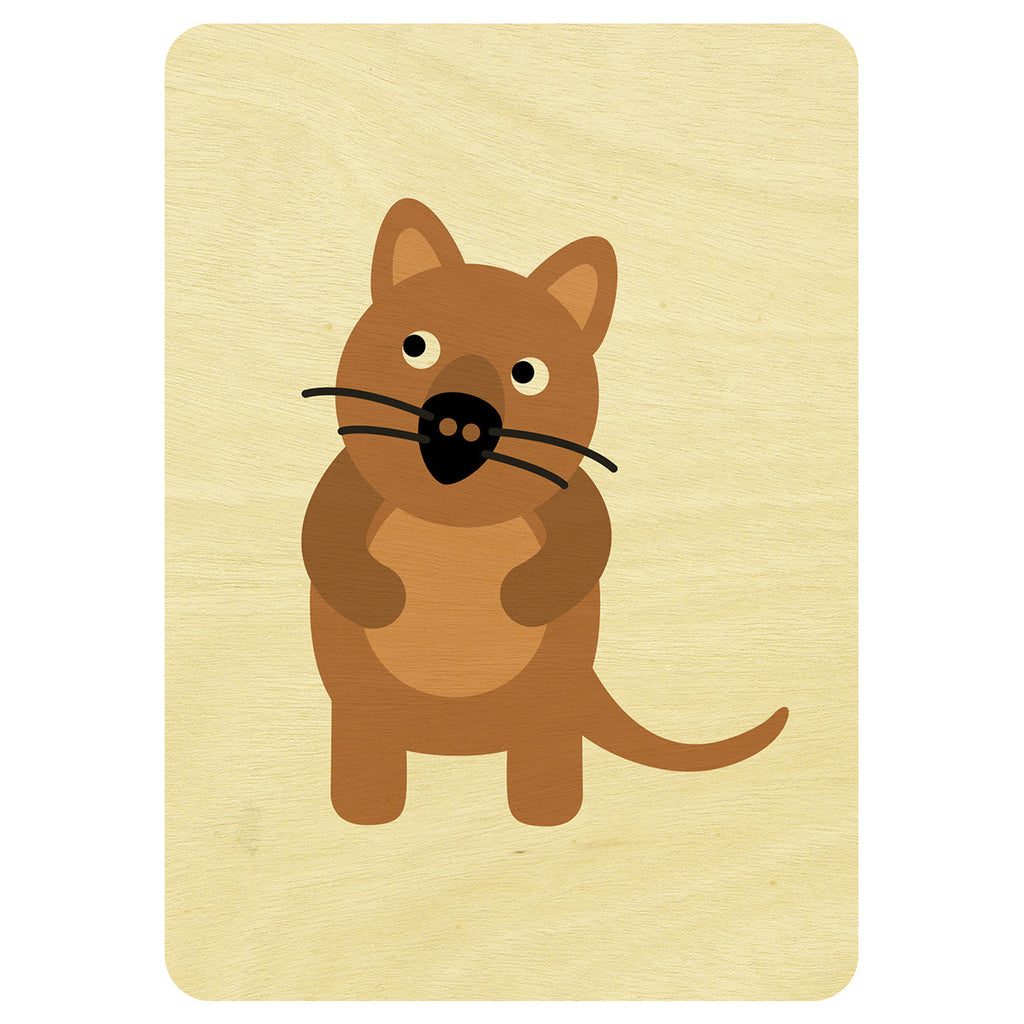 Quokka wooden card