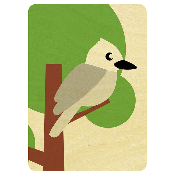 Kookaburra wooden card
