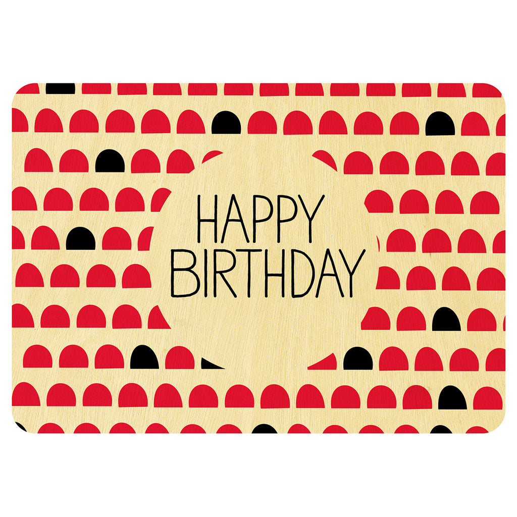 Happy Birthday nordic style wooden card