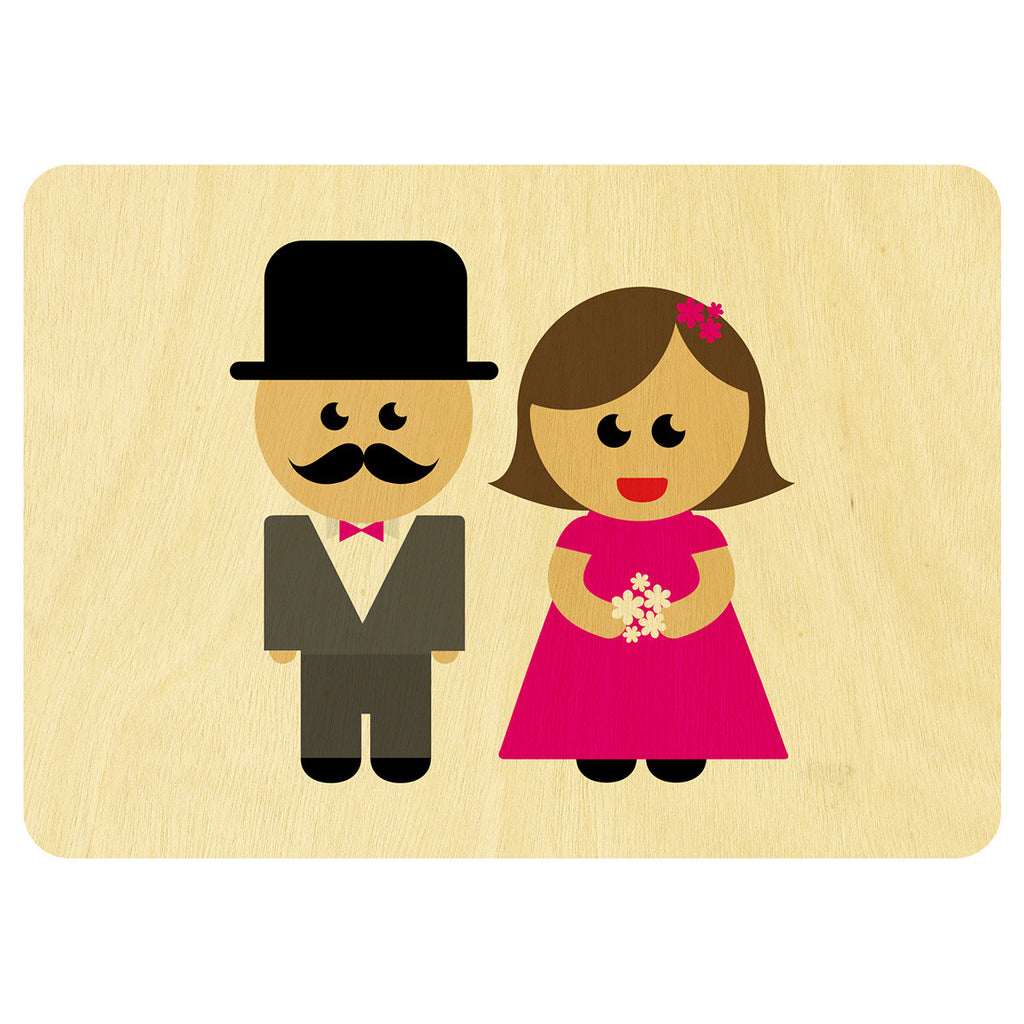 Wedding wooden card
