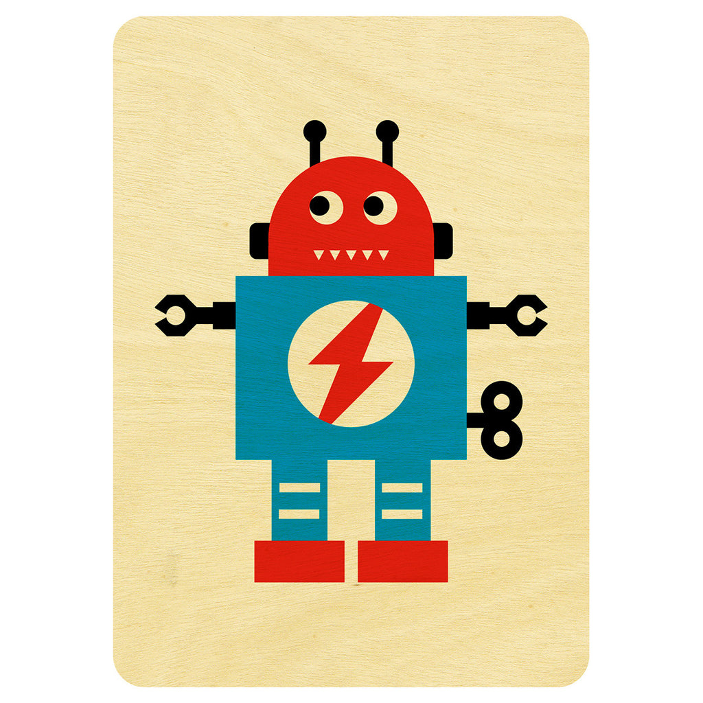 Mr Robot wooden card