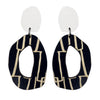 White city patterned wiggle earrings