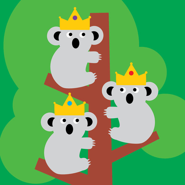 Three wise koalas Christmas card