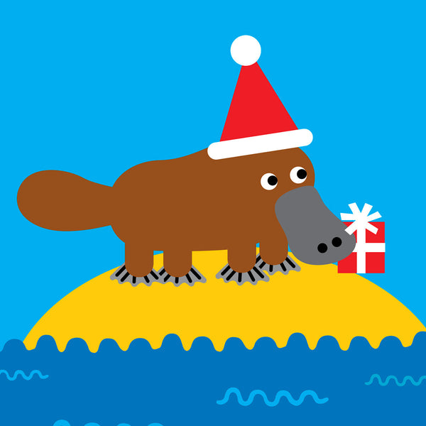Platypus Christmas card