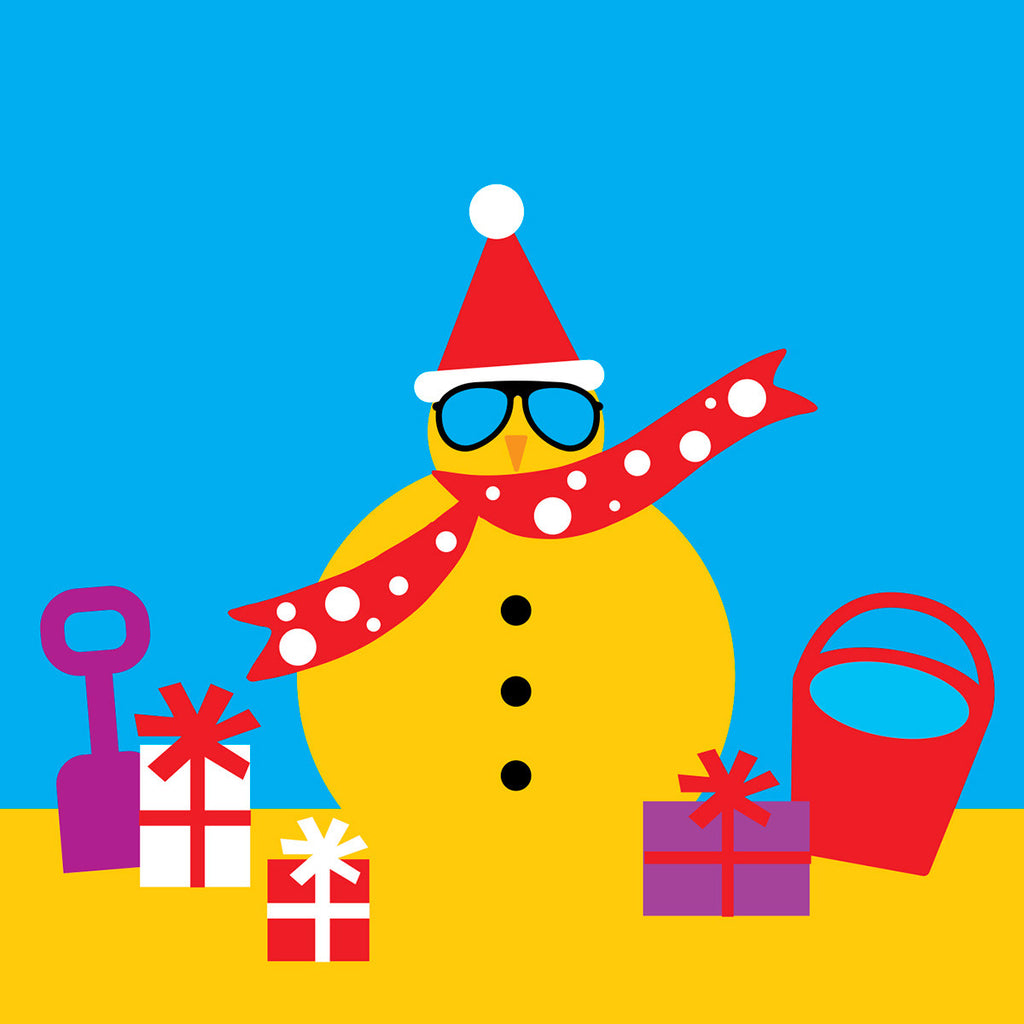 Sand man Christmas card