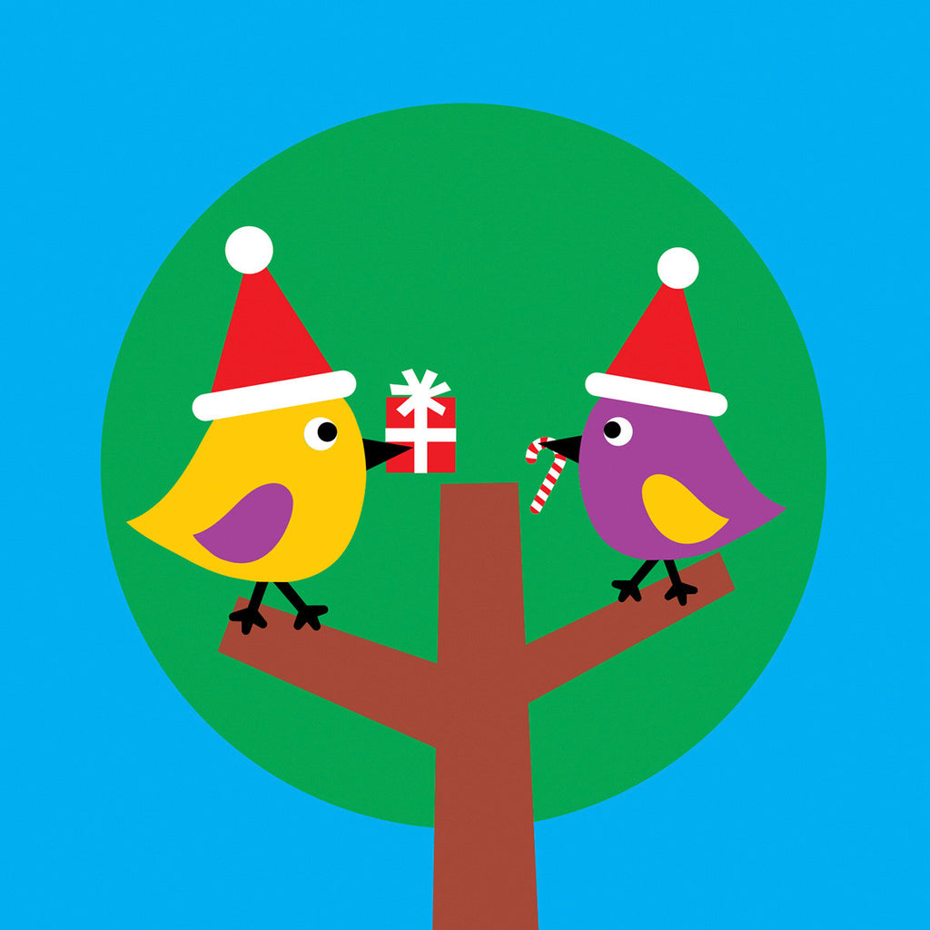 Two birds Christmas card