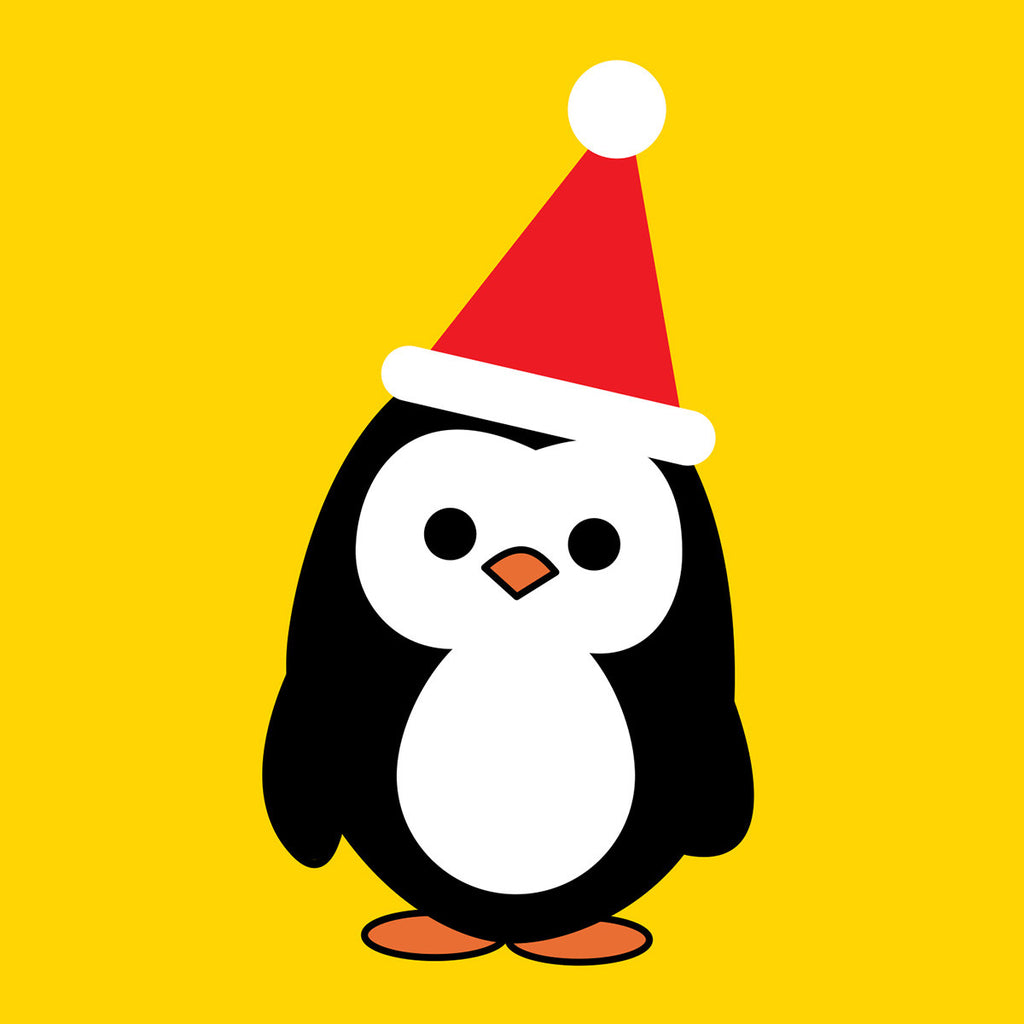 Mr Penguin Christmas card