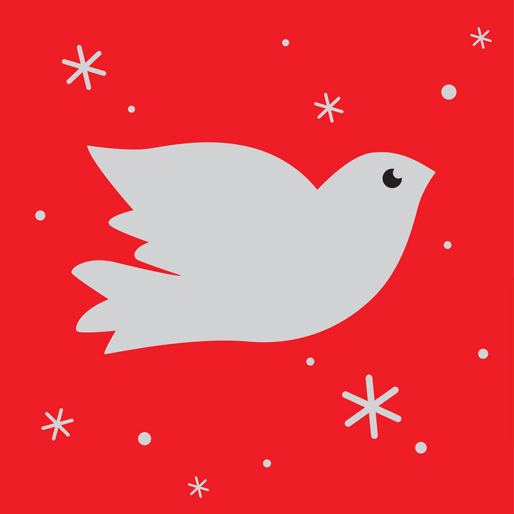 Silver Dove Christmas card