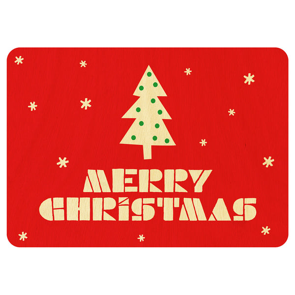 Merry Christmas Christmas wooden card