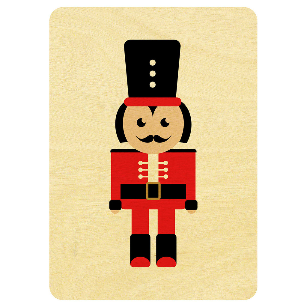 Nutcracker Christmas wooden card