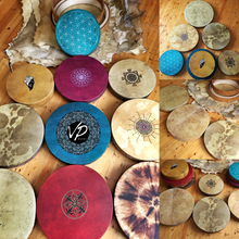 18'- 20' Custom made Shaman drum, Frame drum, Hand drum, Hand percussion - VPdrums