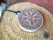 Viking compass Amulet, Talisman, Magical necklace with powerful symbol
