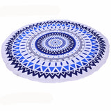 Roundie Beach Towel With Tassels