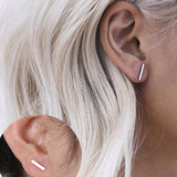 Simple Gold or Silver T-bar Earrings