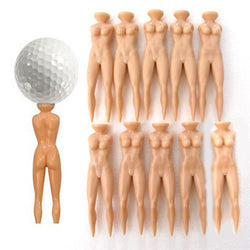 Plastic Novelty Nude Lady Golf Tee (10 Pack)