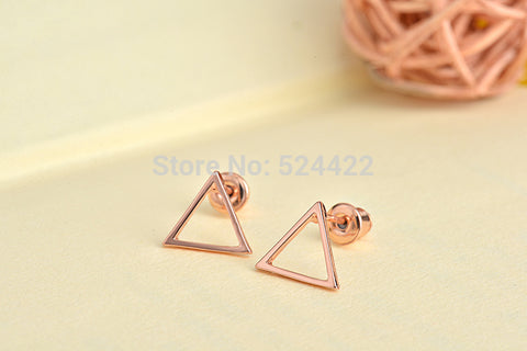 Hollow Triangle Stud Earring