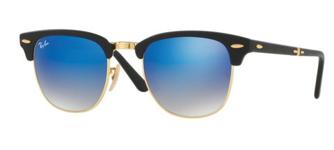 Ray Ban 2176 - Black Matte with Blue Flush Gradient