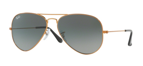 Ray Ban 3025 - Shiny Bronze with Light Grey Gradient Dark Grey