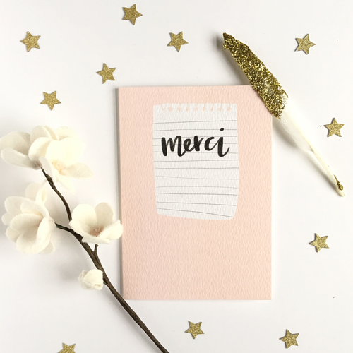 Merci Blush Pink Card