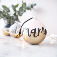 Personalised gold embellished bauble