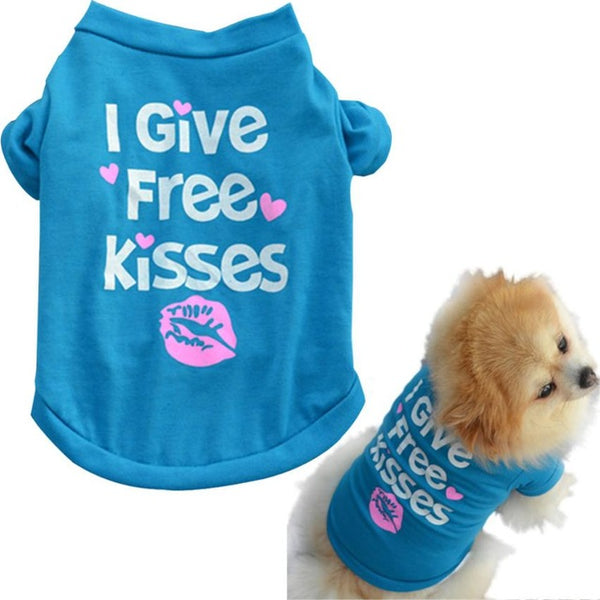 I Give Free Kisses Blue Top