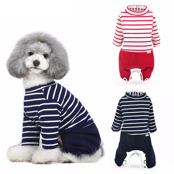 Teddy Stripe Jumper (Red/Dark Blue)
