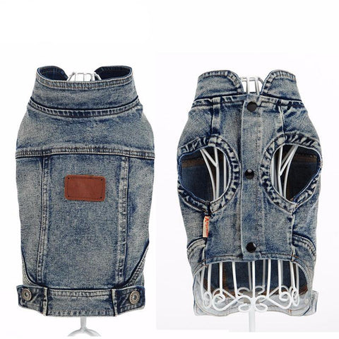 Rugged Denim Sleeveless Jacket