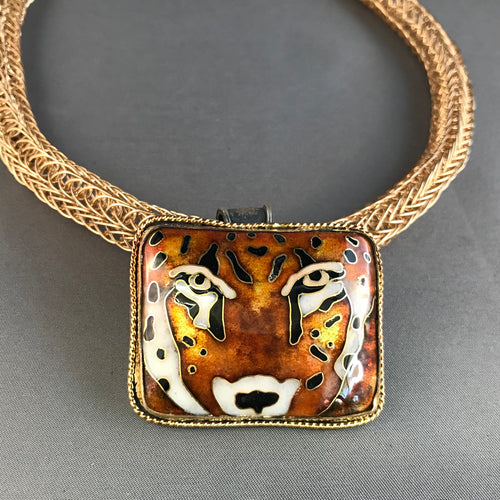 Leopard Cloisonné in GOLD
