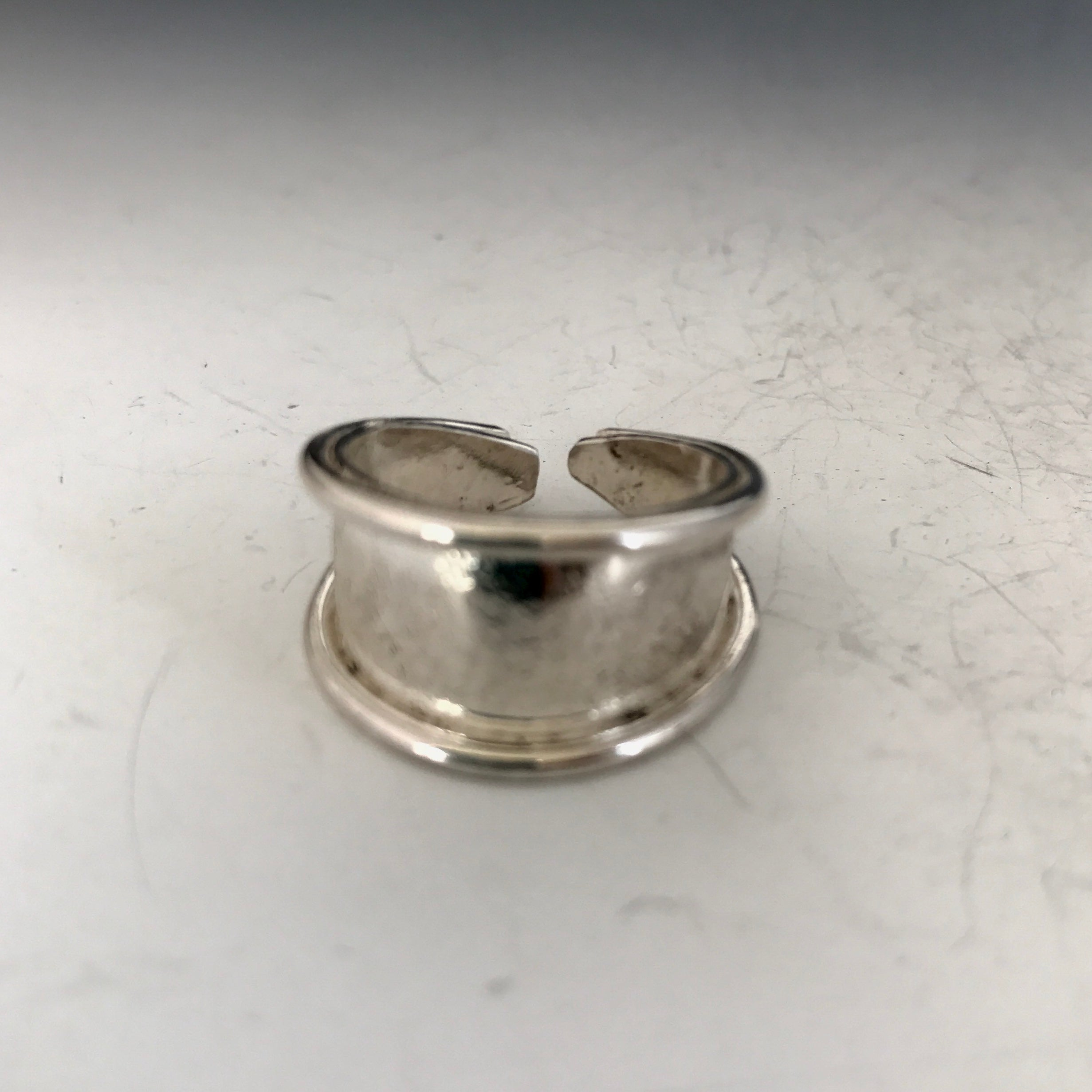 Simple Adjustable Sterling Ring