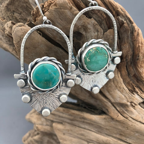 Assymetic Turquoise Earringd