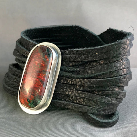 Gem Silica mixed metal cuff