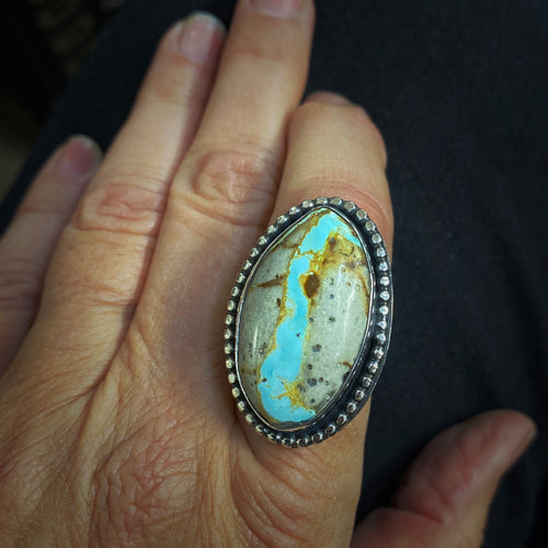 Ribbon Turquoise and Sterling Ring
