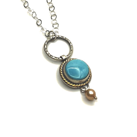Royston Mine Ribbon Turquoise Necklace