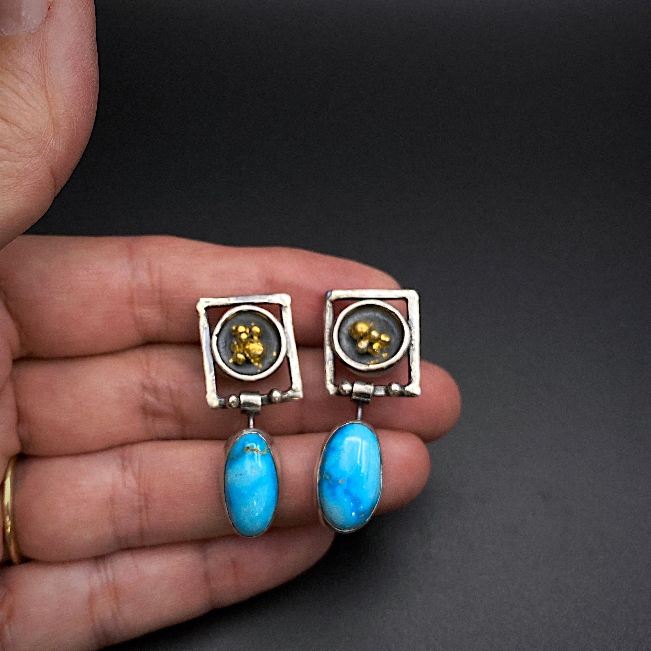 Contemporary Turquoise Earrings